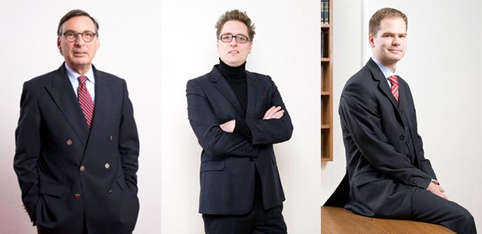 Rechtsanwalt und Notar Rainer-H. Bonse a. D. (bis 2018), Rechtsanwalt Prof. (em.) Dr. Sebastian Barta, Rechtsanwalt Prof. (em.) Dr. Sebastian Geiseler-Bonse, LL.M.